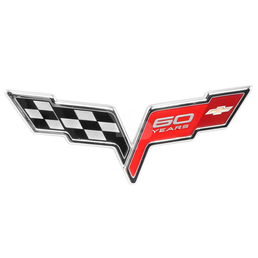 "2005-2013 Corvette C6 OEM ""60 Years"" 60th Anniversary Emblem - Front"