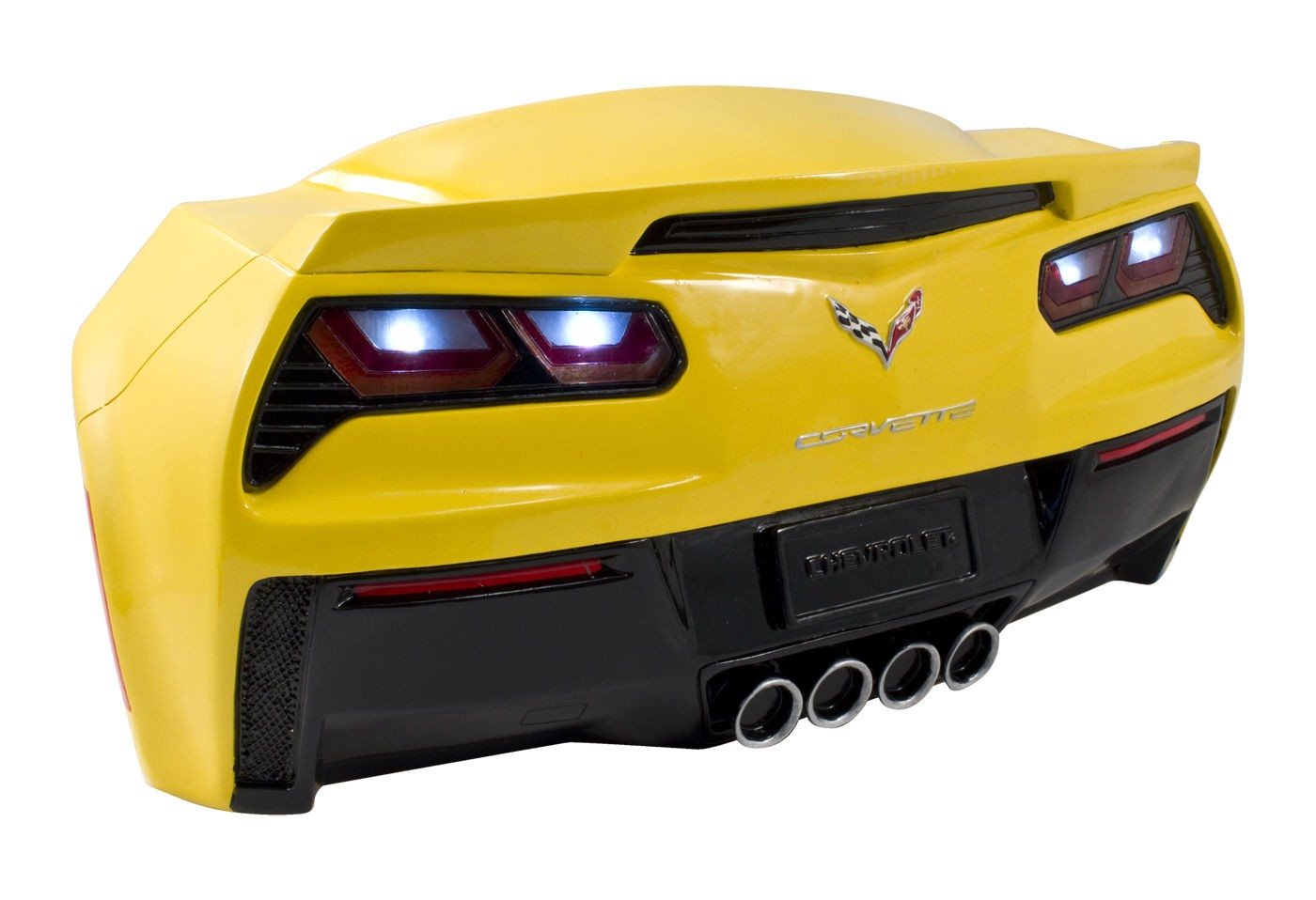 Yellow C7 Corvette Stingray Hanging Sign Decor - Light Up LED ...