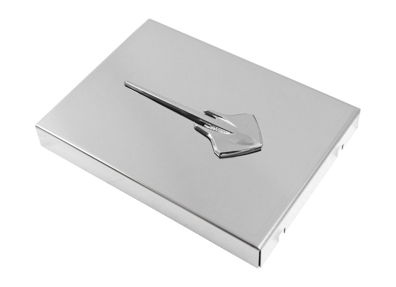 2014 C7 Corvette Polished Fuse Box Cover Chrome Stingray Logo