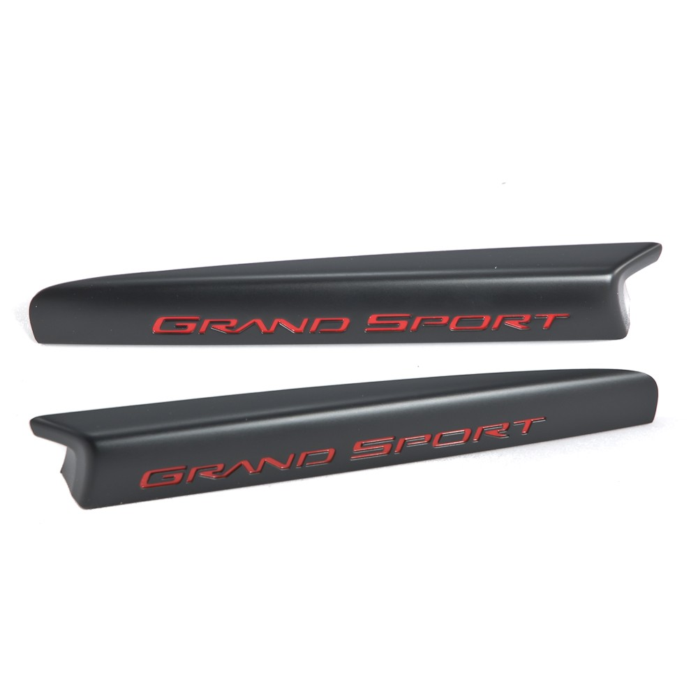 2010 2013 corvette grand sport oem centennial editon black fender vent emblems