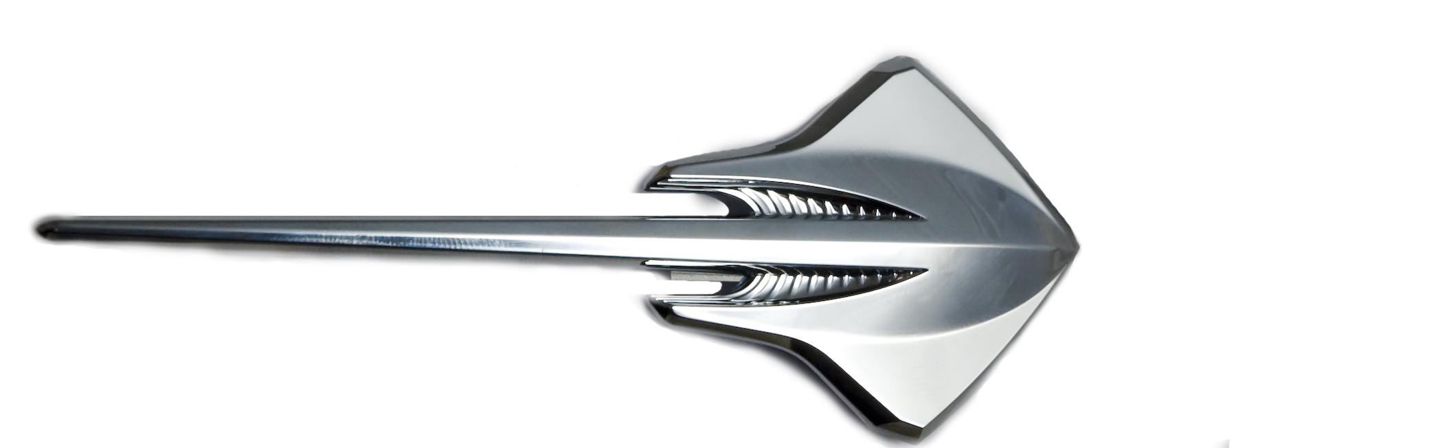 c7 corvette chrome stingray sting ray emblem gm 22797876