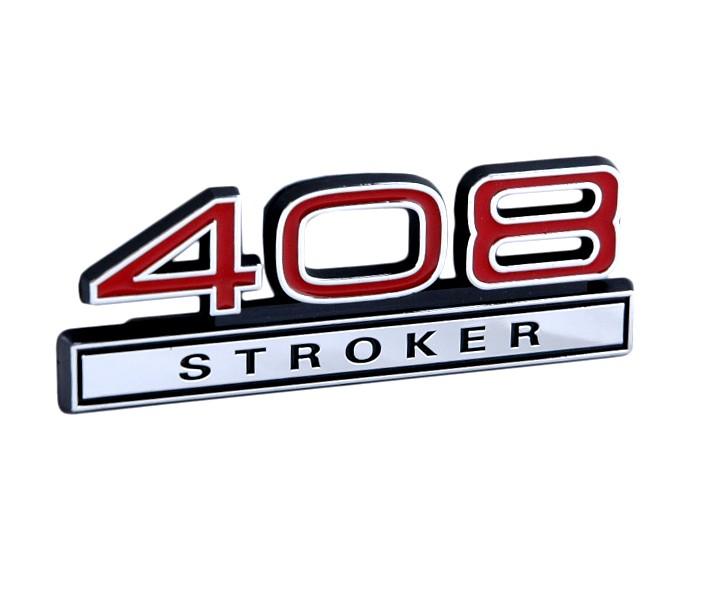 408 Stroker Emblem Red