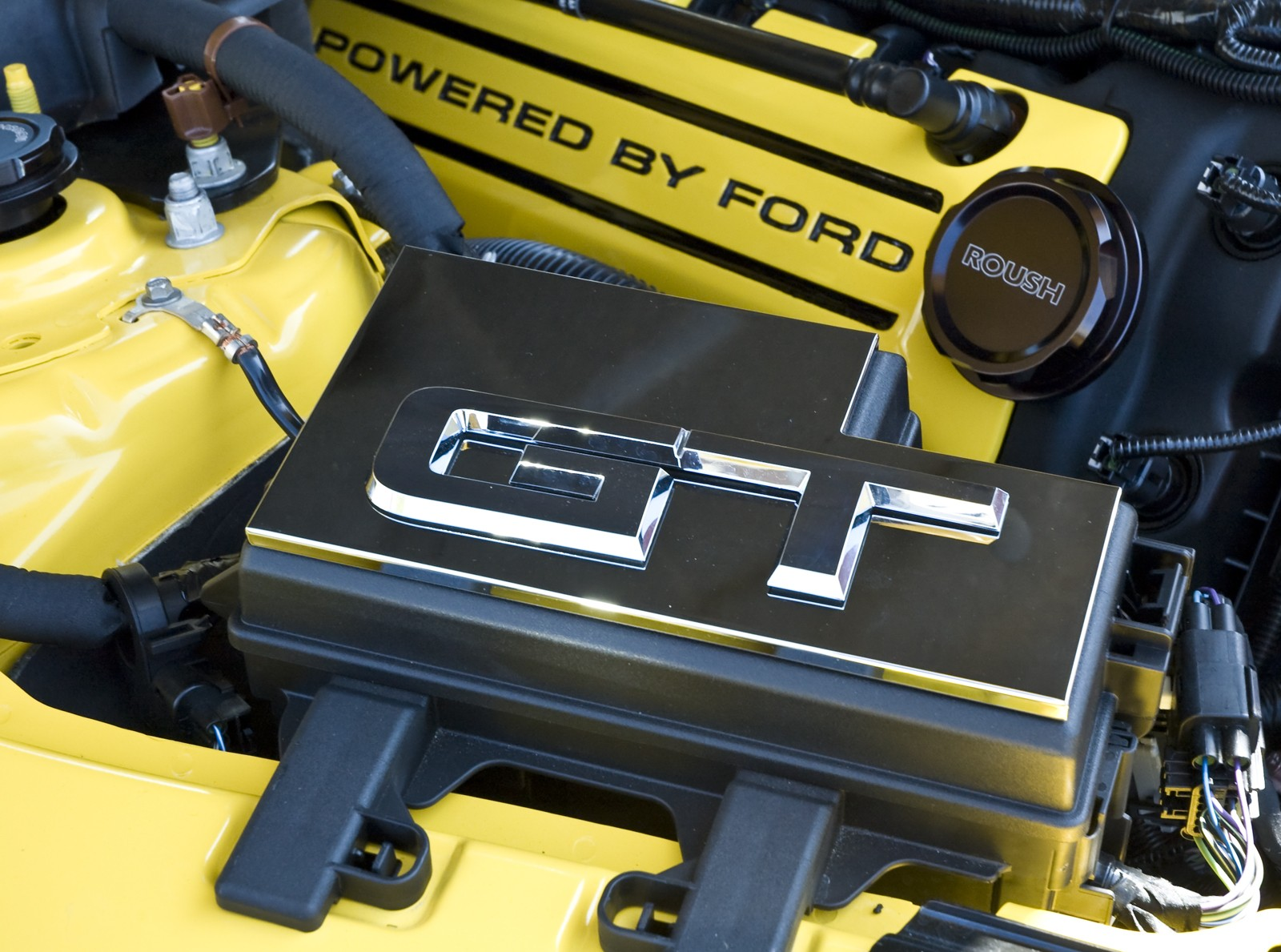 2015 2017 Mustang Chrome Billet Aluminum Engine Fuse Box Cover W 2002 Gt Oem Emblem