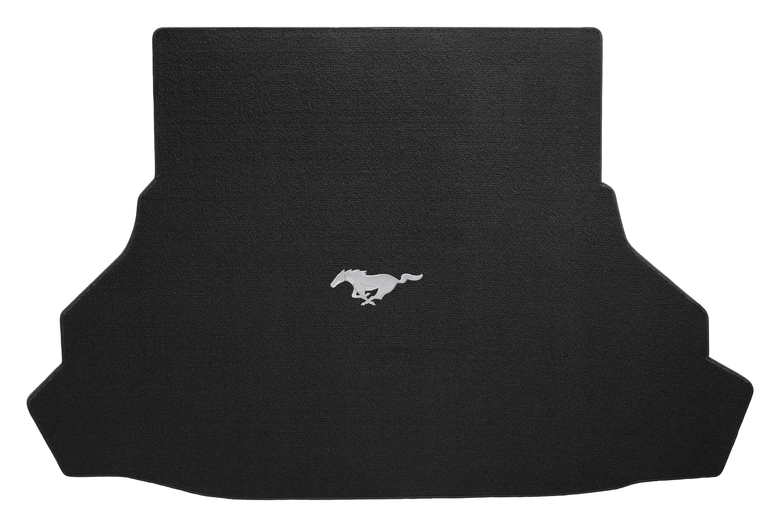 2015 Ford Mustang Lloyd Rear Trunk Cargo Mat Black w/ Running Horse Emblem Embroidery