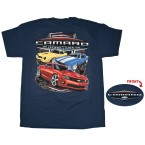 "Chevrolet Camaro Generations ""The Legend Lives On"" Blue Shirt"