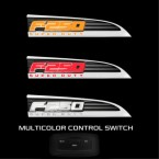 2011-2016 F250 SuperDuty Chrome Light Up Fender Emblems - Red White or Amber