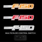 2009-2014 Ford F-150 Light Up Chrome Fender Emblems - Red White or Amber