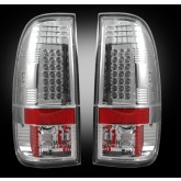 1999-2007 SuperDuty & 1997-2003 F-150 Rear LED Clear Tail Lights 264172CL