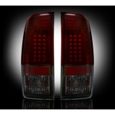 1999-2007 SuperDuty & 1997-2003 F-150 Rear LED Dark Red Smoked Tail Lights 264172RBK