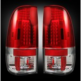 1999-2007 SuperDuty & 1997-2003 F-150 Rear LED Red Tail Lights 264172RD