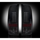 2008-2016 F250 F350 F450 F550 F650 SuperDuty Smoked LED Rear Tail Lights 264176BK