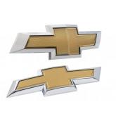 2010-2013 Camaro Front Grille & Rear Trunk OEM Gold Chrome Bowtie Emblems