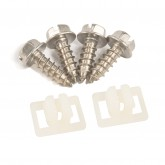 1979-2004 Mustang License Plate Screws & Nuts (stainless steel screws) (6)