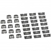 1979-1993 Mustang Hatchback Front & Rear Window Molding Clips (35)