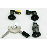 1987-1993 Mustang Door/Trunk/Glove Lock Set - Black