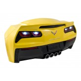 Yellow C7 Corvette Stingray Hanging Sign Decor - Light Up LED Taillights