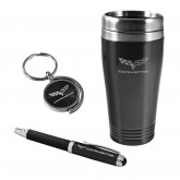 C6 Corvette Travel Mug Keychain & Ink Pen Gift Set - Choice of Color