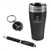 Shelby & Cobra Travel Mug Keychain & Ink Pen Gift Set - Choice of Color