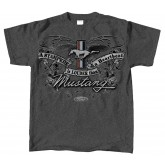 "Ford Mustang ""A Stampede is Louder than a Heartbeat"" Grey Gray Tee Shirt"