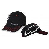 Chevrolet Bowtie Black & White Adjustable Baseball Hat Cap
