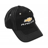 Chevrolet Racing Bowtie Black Adjustable Baseball Hat Cap
