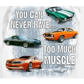 "Camaro Generations "" You Can Never Have Too Much Muscle "" White T-Shirt"