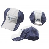 Mustang Blue & White Adjustable Hat with Running Horse & Ford Logos