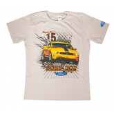 Tan Mustang Shirt w/ Number 15 Yellow Boss 302