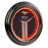 Mustang Fifty Years 50th Anniversary Neon Clock
