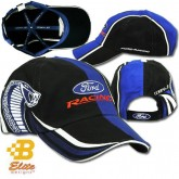 Ford Racing Cobra Jet Black Blue & White Adjustable Velcro Cotton Hat