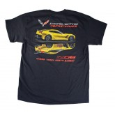 "C7 Corvette Racing Z06 ""Where Track Meets Street"" Black T Shirt"