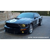 2007-2009 Mustang Shelby GT500 Carbon Fiber Front Wind Splitter - For Vehicles w/ Stock Air Dam