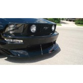 2005-2009 Mustang Carbon Fiber Front Wind Splitter - For Vehicles w/ CDC Aggressive Chin Spoiler