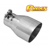 "2.5"" Inner 4.0"" Outer 7.0"" Long Polished Stainless Clamp-On Exhaust Tip"