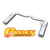 2010-2014 Camaro 6.2L V8 Axle Back Stainless Exhaust - Black or Polished