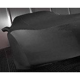 C6 Corvette Black Indoor Car Cover with Flags Logos & Storage Bag
