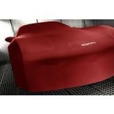2006-2013 Corvette Z06 Red Indoor Car Cover with Logos & Storage Bag