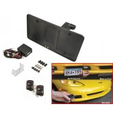C5 Corvette Electric Powered Retractable License Plate Frame with Key Fobs
