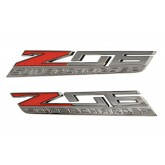 2015+ Corvette Z06 Supercharged OEM Fender Emblems - Left / Right Pair