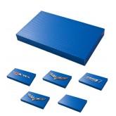 2005-2013 Corvette Blue Carbon Fiber Steel Fuse Box Cover - Choice of Emblem