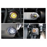 1997-2004 Corvette Chrome Engine Cap Accent Ring 4pc Oil Steering Brake & Radiator