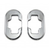 1997-2004 Corvette Polished Stainless Door Catch Latch Striker Bezels - Pair