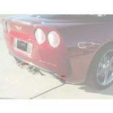 "2005-2013 Corvette Chrome Rear Valance Bumper Liner Trim Molding - 84"" Long"