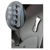 2006-2012 Challenger Charger 300C & Magnum Chrome Lumbar Seat Lever Covers