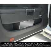 2008-2012 Dodge Challenger Brushed Stainless Door Badge Plate