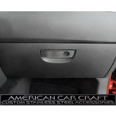 2008-2012 Dodge Challenger R/T + SRT-8 Brushed Stainless Glove Box Trim Plate