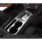 2008-2012 Dodge Challenger R/T + SRT-8 Brushed Stainless Shifter Bezel