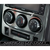 2008-2012 Dodge Challenger R/T + SRT-8 Brushed Stainless A/C Control Knobs Trim Plate
