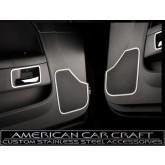 2008-2012 Dodge Challenger Brushed Stainless Door Speaker Rings - Pair