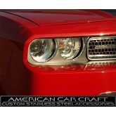 2008-2012 Dodge Challenger R/T + SRT-8 Brushed Stainless Headlight Surrounds